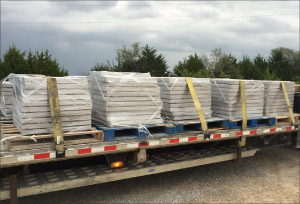 Shipping a load  of pre-cut slabs by flatbed.
