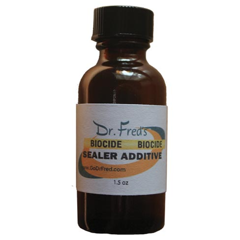 Dr. Fred has formulated a Biocide Sealer Additive that when added to any water-based or solvent-based impregnator, will inhibit mold, mildew, algae and other biological growths. It is safe for the environment, has no odor and contains no VOCs.