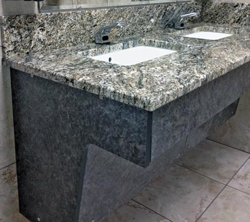 Slippery rock gazette stone pro ada compliant vanity for Granite countertops support requirements