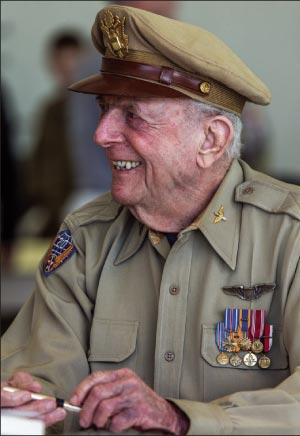 """If you wanna stop war everybody would go to war naked,"" Yellin says. ""Then nobody would know who to shoot.""  – Captain (ret.) Jerry Yellin"