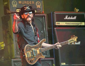 Lemmy Kilmister at the 2015 Glastonbury Music Festival