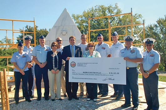 The Chief Petty Officers Association launched Restoration 2012 to raise $95,000 to restore the U.S. Coast Guard Memorial
