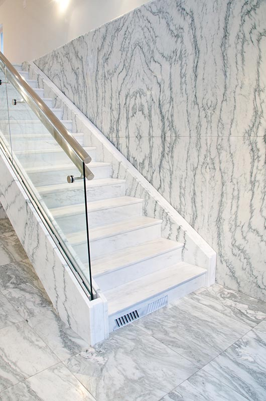 Country or contemporary, commercial or residential, Vermont Danby is an excellent choice. Modern sealers make Danby almost stain proof, but as with all natural stone surfaces, acidic, organic spills should be cleaned up immediately