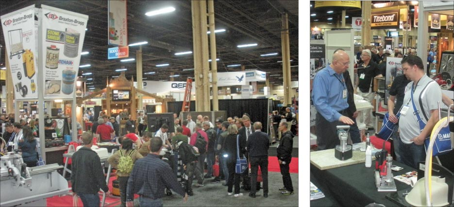 Slippery rock gazette surfaces stonexpo marmomacc for Kitchen and bath show las vegas