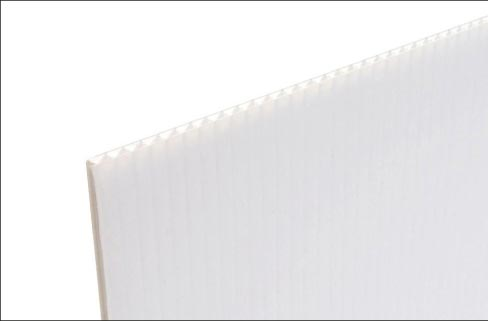 Coroplast is available in 48 x 96 inch sheets x 0.157 inches thick. Basically, it is white corrugated plastic. Polyfoam can also be used as a cushion on a saw bed when cutting vitreous (glass and porcelain) materials.