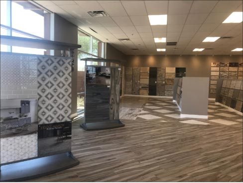 The new MSI showroom in Phoenix has numerous displays and vignettes placed in a spacious layout, with several meeting rooms for consultation.