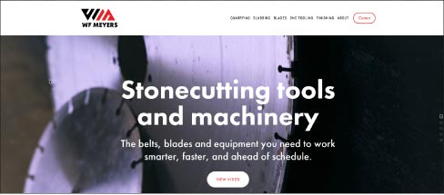 WF Meyers, located in Bedford Indiana, has been manufacturing stonecutting equipment and tools for over 130 years. The new website explains new patents in block-cutting technology, and more. For more information visit www.wfmeyers.com or call (812) 275-4485.