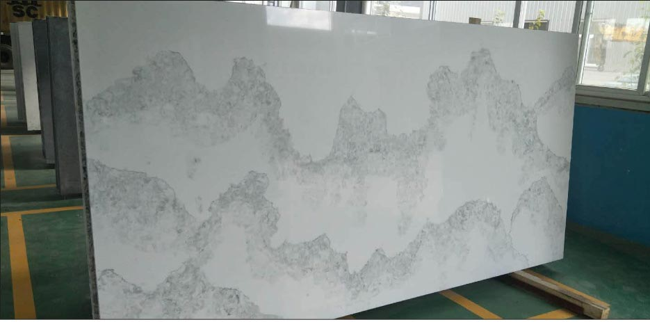 Deep North from West Quartz features a fluid, tranquil pattern. The company can create custom colors in small batches.