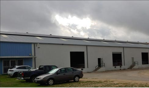 Gecko Solid Surface Solutions production facility in San Antonio, Texas, is a model of green efficiency. Run by 106 solar panels using an inverter to create single-phase 120 and 240 volt, and three-phase 480 volt power, the facility generates its own electricity – and more.
