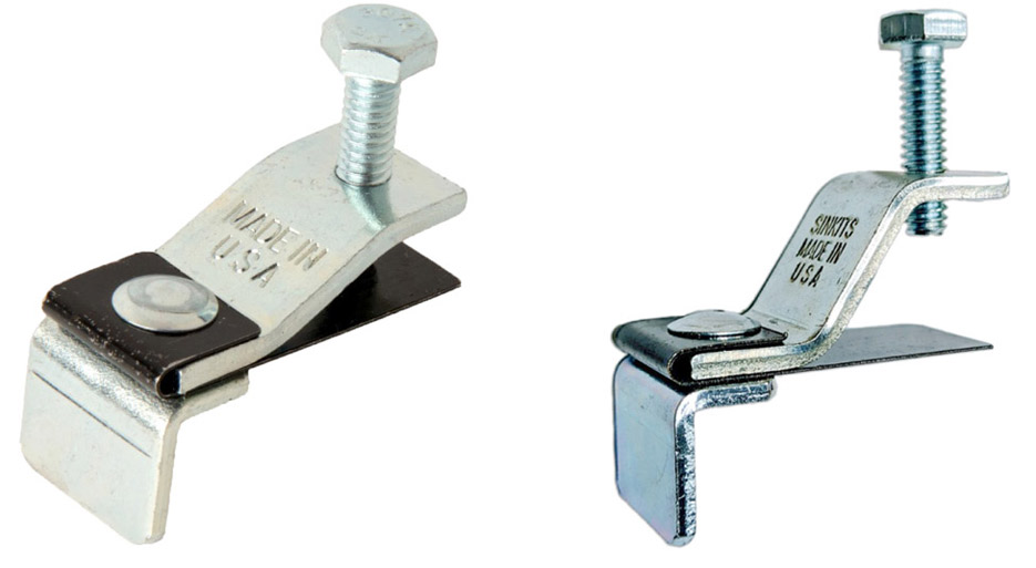 Above, left: The Original Sinkits Slot Sink Clip System won the Innovator of the Year Award from the SFA in 2011. Above, right: Sinkits High Rise Sink Clip