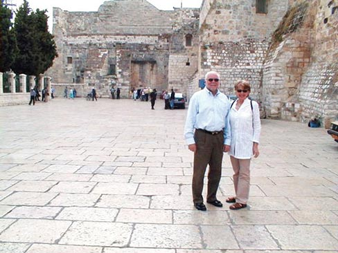 Penny and Jim Martin in Bethlehem.
