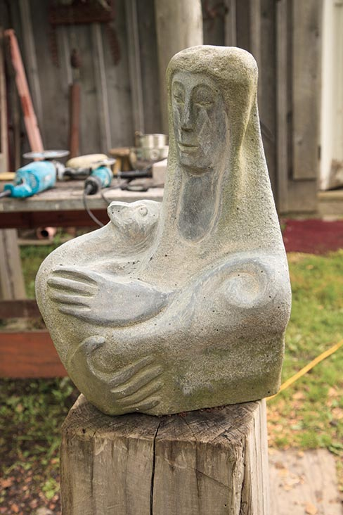 "A back yard collection of original works by Lise first greet all who approach her front door. ""I sell, fairly small, intimate sculptures that somebody can have by their door or in their garden."""