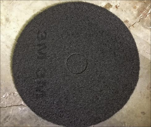 Black floor pads with open weave are designed for aggressive coatings removal. The open weave means less clogging.