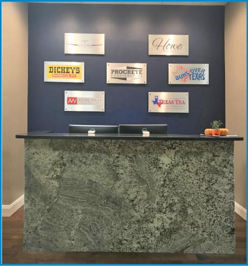 Justin has seen the market change over the past seven years, going from an almost exclusive high-end customer base, installing mostly granite, to a 65% high-end and a 35% smaller residential demographic mix of granite and engineered stone.
