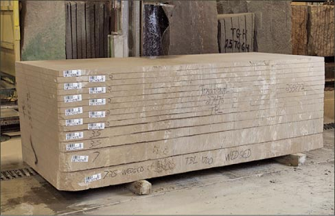 Indiana Limestone slabs come in a full array of colors and are available in select, standard, and rustic graded material.