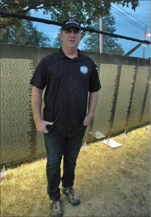 Braxton-Bragg salesman and Navy vet T.J. Johnson says volunteering at The Wall was a 'humbling' experience.