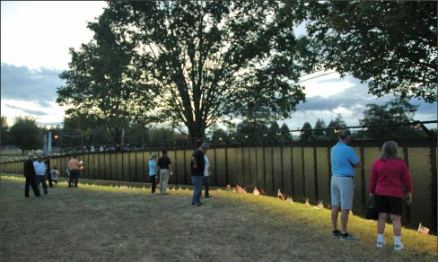 Part of the purpose of The Wall That Heals is to bring the Vietnam War Memorial to those who cannot travel.