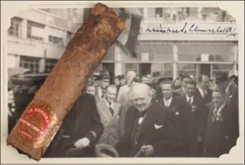 Churchill's autographed Cuban Stogie sold at auction for $12,000