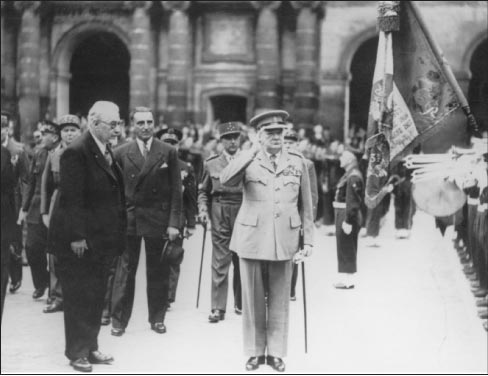 Churchill in Paris, where he was  awarded France's highest military  honor, the Medaille Militaire.