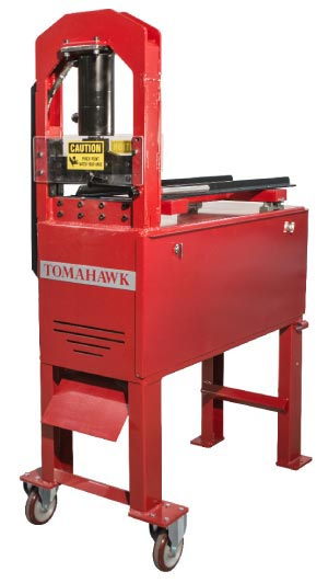 Production machines like the Tomahawk from Braxton-Bragg turn stone scrap into usable construction material, creating a new revenue stream for stone companies.
