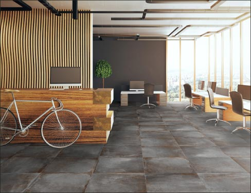 Ege Seramik S Antwerp 24 X Inch Glazed Porcelain Tile Is Available In Earth Tones And
