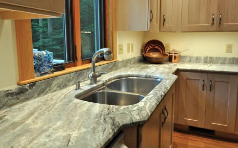 Fantasy Brown Granite Installed In The Kitchen Features A Sink P Out And Full